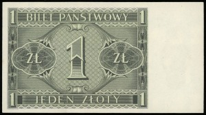 1 złoty 1.10.1938, seria IK, numeracja 8176461, Lucow 7...