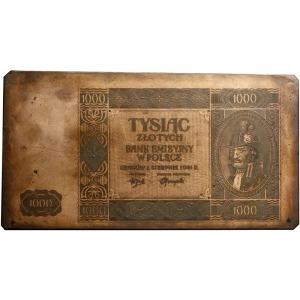 kontrmatryca strony głównej banknotu 1.000 złotych 1.08...