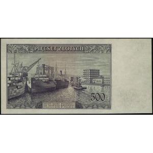 500 złotych 15.08.1939, seria A, numeracja 000000, Luco...