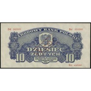10 złotych 1944, w klauzuli OBOWIĄZKOWE, seria Dd, nume...