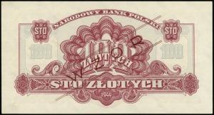 100 złotych 1944, w klauzuli OBOWIĄZKOWE, seria Ay, num...