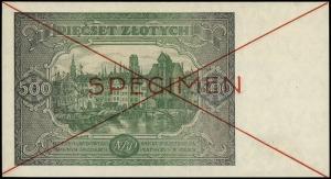 500 złotych 15.01.1946, seria Dz, numeracja 1234567 / 8...
