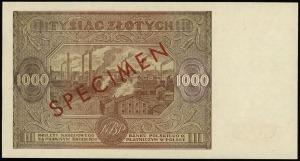 1.000 złotych 15.01.1946, seria Wb, numeracja 0000000, ...