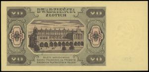 20 złotych 1.07.1948, seria HM numeracja 9702966, Lucow...