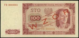 100 złotych 1.07.1948, seria FH, numeracja 0000002, obu...