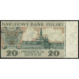 20 złotych 2.01.1965, seria KH, numeracja 1204395, niew...