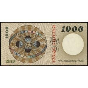 1.000 złotych 29.10.1965, seria A, numeracja 7000135, L...