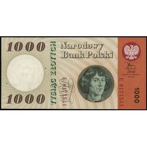 1.000 złotych 29.10.1965, seria E, numeracja 8174541, b...