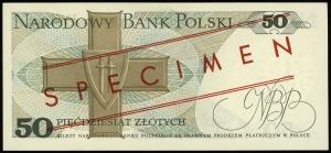 50 złotych 9.05.1975, seria AH, numeracja 0000097, czer...