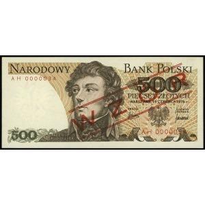 500 złotych 15.06.1976, seria AH, numeracja 0000034, cz...