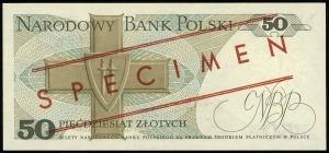 50 złotych 1.06.1982, seria DA, numeracja 0000000, czer...
