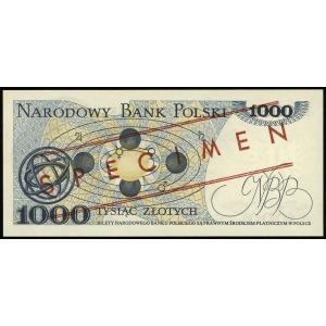 1.000 złotych 1.06.1982, seria DC, numeracja 0000000, c...