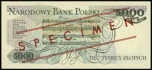 5.000 złotych 1.06.1982, seria A, numeracja 0000000, cz...