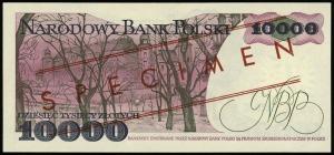 10.000 złotych 1.02.1987, seria A, numeracja 0000000, c...