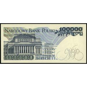 100.000 złotych 1.02.1990, seria AA, numeracja 0850774,...
