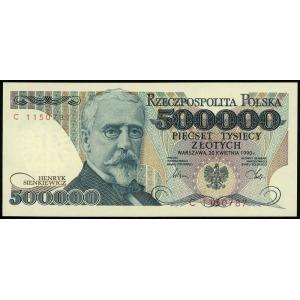 500.000 złotych 20.04.1990, seria C, numeracja 1150787,...