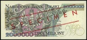 2.000.000 złotych 14.08.1992, seria B, numeracja 000000...