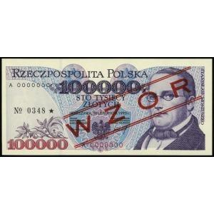 100.000 złotych 16.11.1993, seria A, numeracja 0000000,...