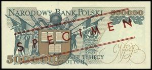 500.000 złotych 16.11.1993, seria A, numeracja 0000000,...