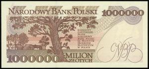 1.000.000 złotych 16.11.1993, seria M, numeracja 704985...
