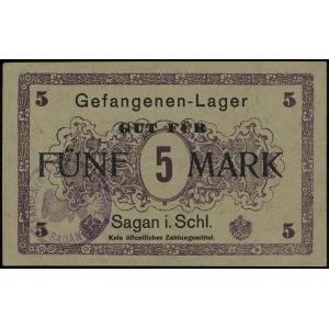 bon na 5 marek (1918), Campbell 3436, pięknie zachowany