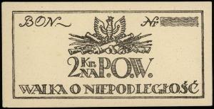 2 i 5 koron (1918), oba egzemplarze niewypełnione (blan...