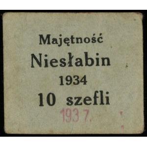 Majętność Niesłabin, bon na 10 szefli 1934, przestemplo...