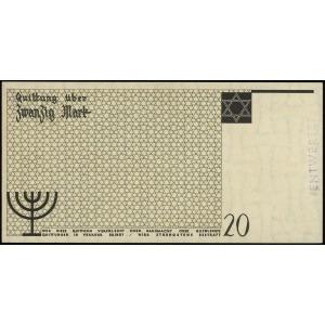 20 marek 15.05.1940, numeracja 000354, papier ze znakie...