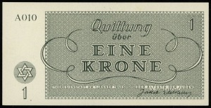 1, 2, 5, 10, 20, 50 i 100 koron 1.01.1943, serie i nume...
