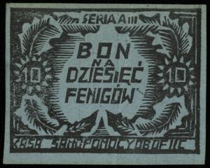 10 i 50 fenigów (1944) oraz 2 i 5 marek 30.10.1944, ser...