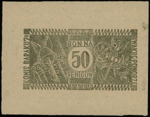 Biwak IIC Pomorze, Komis Baraku 7B, bon na 50 fenigów 2...