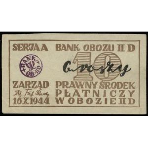 10 i 50 groszy oraz 1 piast, 16.10.1944, wszystkie z fi...