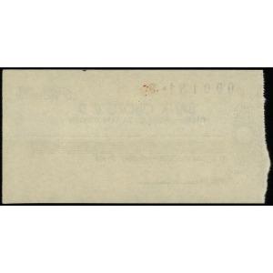 Bank Obozu II D, niewypełniony czek - blanco, numeracja...