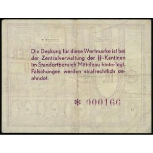 bon na 10 marek, seria B, numeracja 000166, papier ze z...