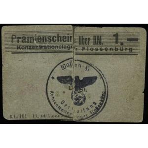 bon na 1 markę, odmiana z szerszą literą ä w Prämiensch...