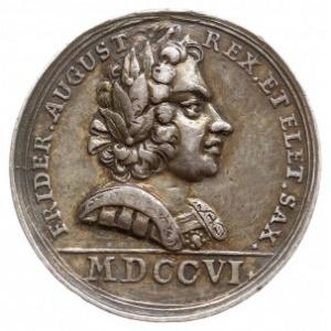 medal nieznanego autora z 1706 roku, Aw: Popiersie Augu...