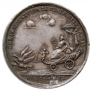 medal zaślubinowy królewicza Fryderyka Augusta z Marią ...