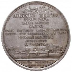 August III, medal z okazji stulecia Pokoju Oliwskiego z...