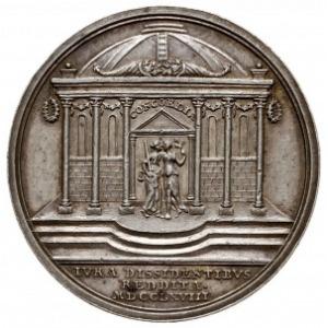 medal autorstwa J. L. Oexleina z 1768 roku wybity z oka...