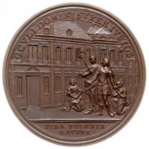 medal autorstwa I. L. Oexleina z 1771 roku wybity z oka...