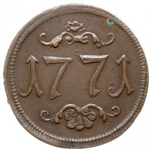 żeton z 1771 roku wybity przez Bractwo Miłosierdzia Trz...