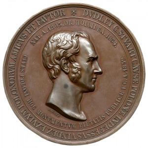 medal autorstwa A. Bovy'ego z 1859 r wybity staraniem K...