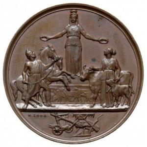 medal autorstwa G. Loos'a z 1868 roku wybity z okazji W...