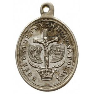owalny medalik z uszkiem z 1861 roku wybity na 292 rocz...