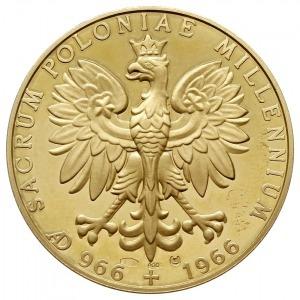 medal sygnowany CV z 1966 roku poświęcony Millenium Chr...