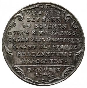 medal autorstwa Jerzego Wilhelma Kittel'a z 1747 roku w...