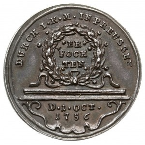 medal autorstwa Jerzego Wilhelma Kittel'a z 1756 roku w...