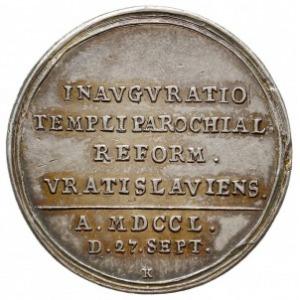medal autorstwa Jerzego Wilhelma Kittel'a z 1750 roku w...