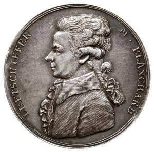 niesygnowany medal z 1789 roku poświęcony przelotowi ba...