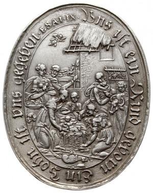 owalny medal autorstwa Sebastiana Dadlera z 1626 roku w...